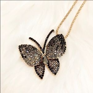 NEW! Butterfly Pendant W/Necklace & Brooch